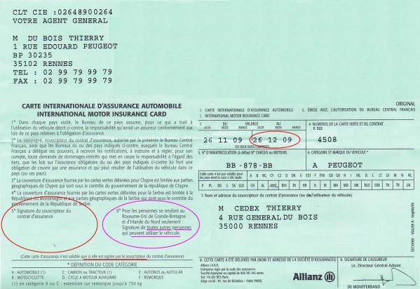 assurance auto quoi sert la carte verte assurance auto sur. Black Bedroom Furniture Sets. Home Design Ideas